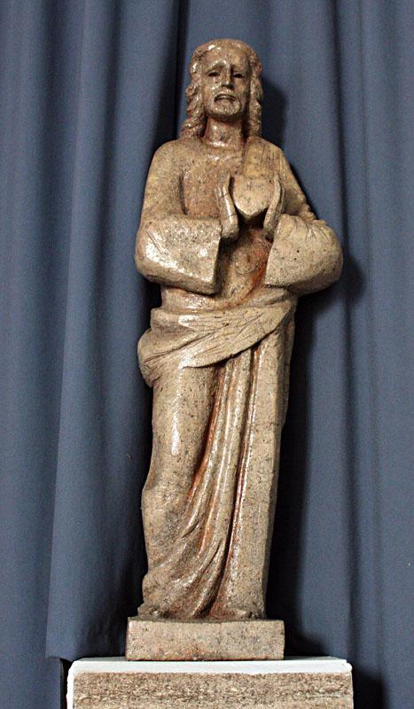 OB-pl-Achteveld-H.hartbeeld beesel in Goede Herderkerk in Ede-West.